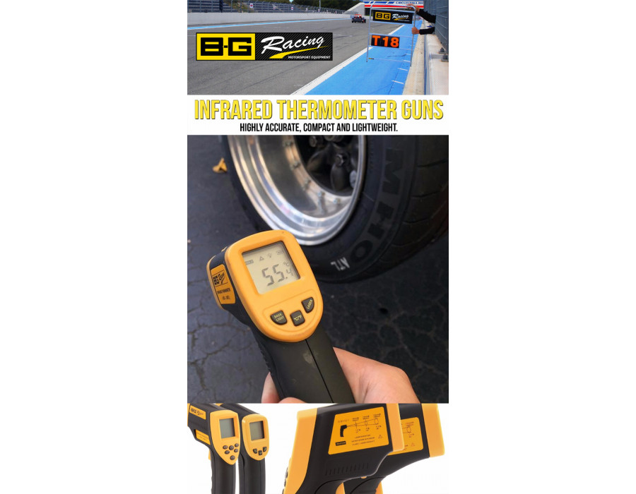 Tyre and Brake Temperatures are Critical - Perfect tools for the job!