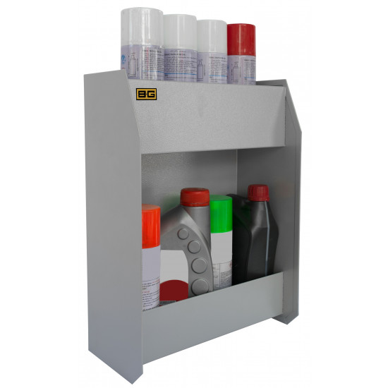 B-G Racing - Small Two Shelf Fluid Cabinet - Powder Coated