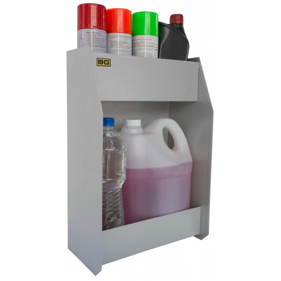 B-G Racing - Large Two Shelf Fluid Cabinet - Powder Coated