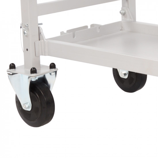 B-G Racing - Wheel and Tyre Trolley Standard Wheel Set With Carriers