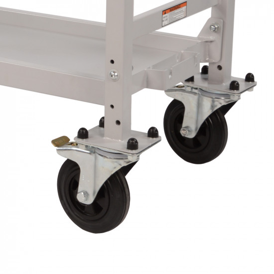 B-G Racing - Wheel and Tyre Trolley Swivel Wheel Set With Carriers