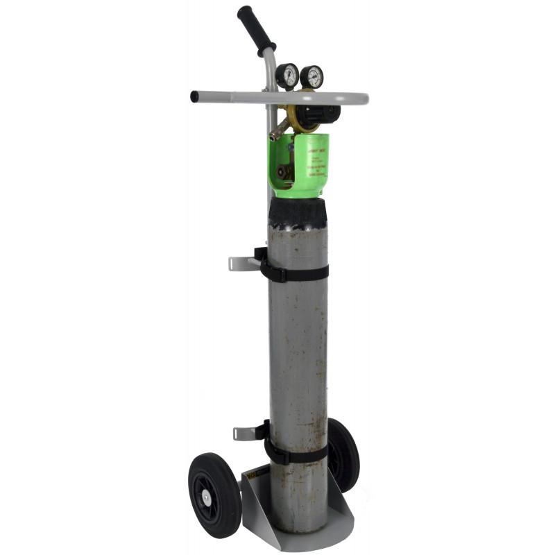 B-G Racing - Single Air/Gas Bottle Trolley - Powder Coated