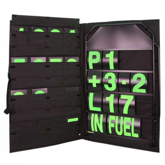 B-G Racing - Large Black Aluminium Pit Board Kit