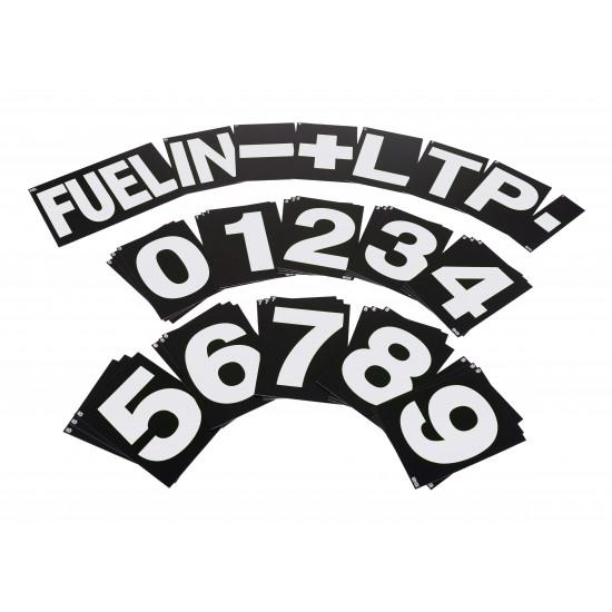 B-G Racing - Large White Pit Board Number Set