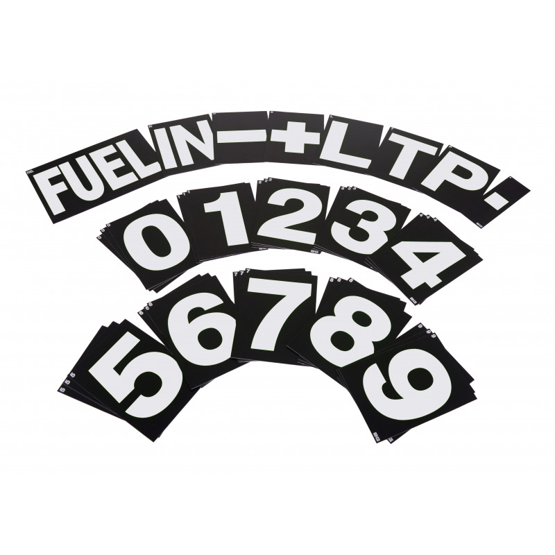 B-G Racing - Standard White Pit Board Number Set