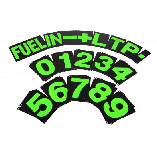 B-G Racing - Large Green Pit Board Number Set