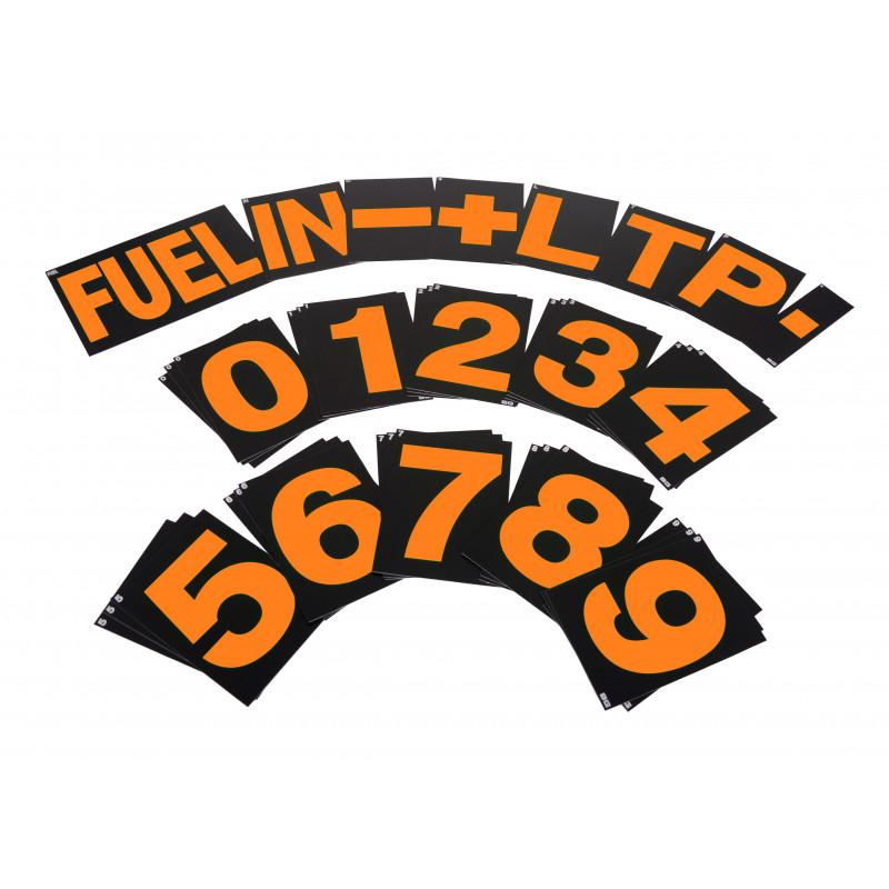 B-G Racing - Large Orange Pit Board Number Set