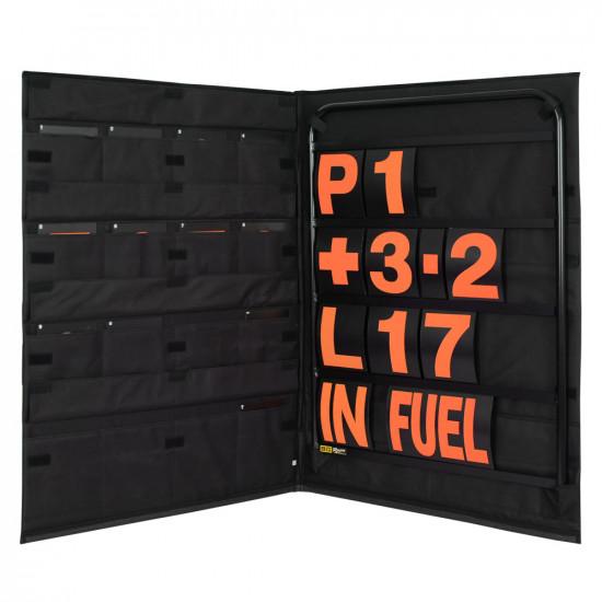 B-G Racing - Standard Black Aluminium Pit Board Kit