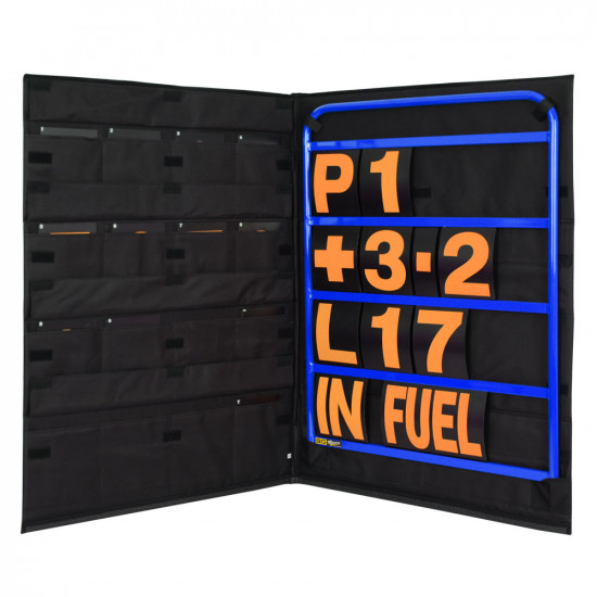 B-G Racing - Standard Blue Aluminium Pit Board Kit