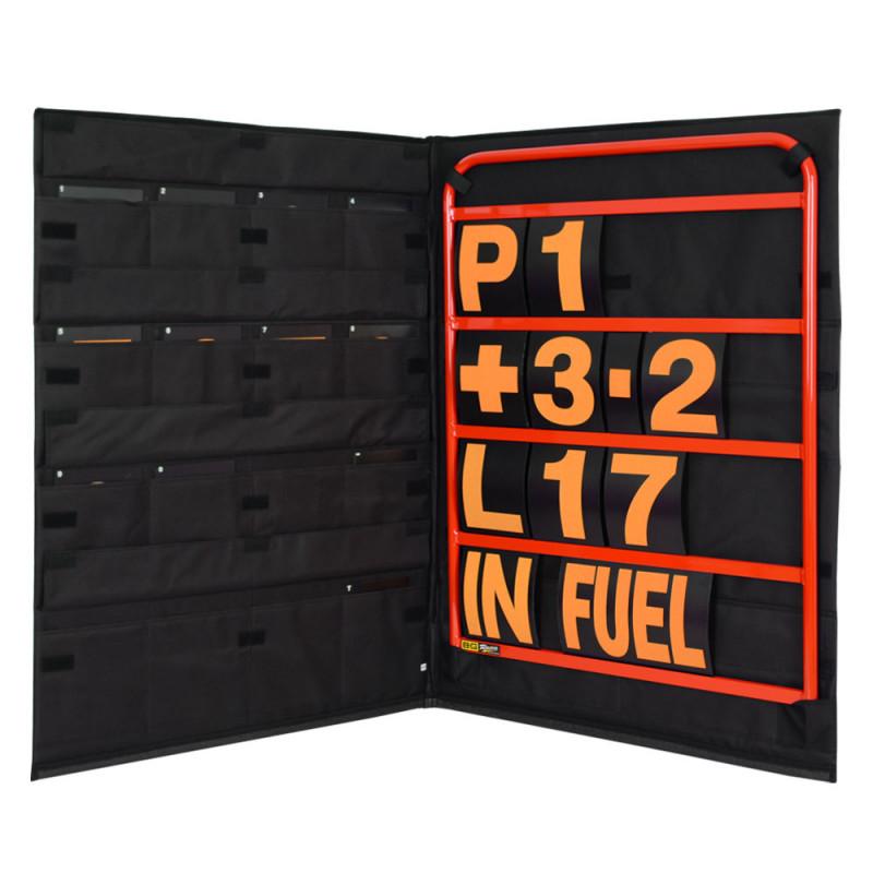 B-G Racing - Standard Red Aluminium Pit Board Kit