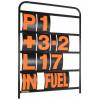 B-G Racing - Standard Black Aluminium Pit Board