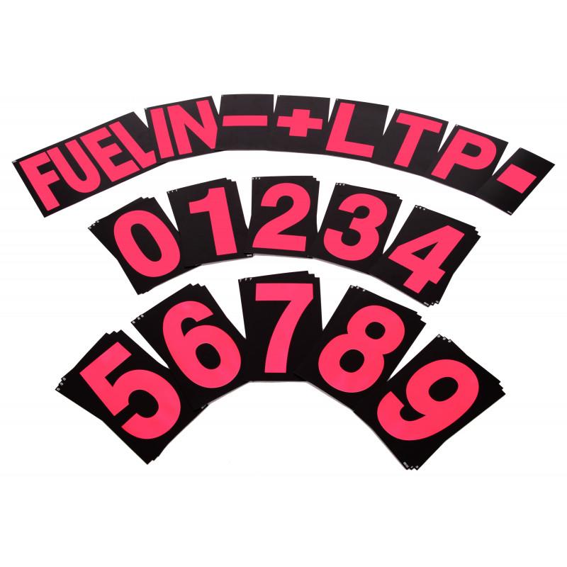 B-G Racing - Standard Pink Pit Board Number Set