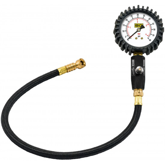 "B-G Racing - 2.5"" Tyre Pressure Gauge - 0-60 PSI / 0-4 BAR"